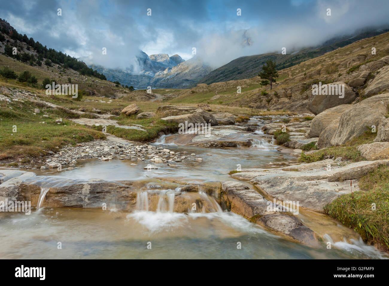 Aisa-Tal in den Pyrenäen, Huesca, Aragón, Spanien. Stockbild