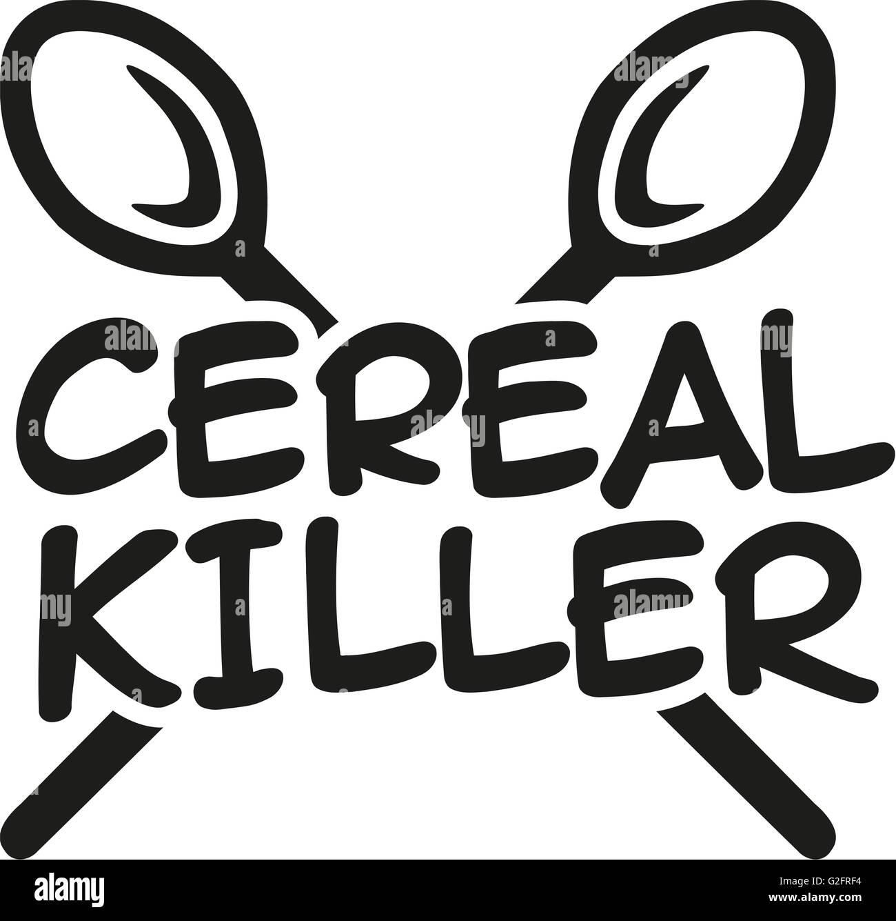 Cereal killer Kind Stockbild