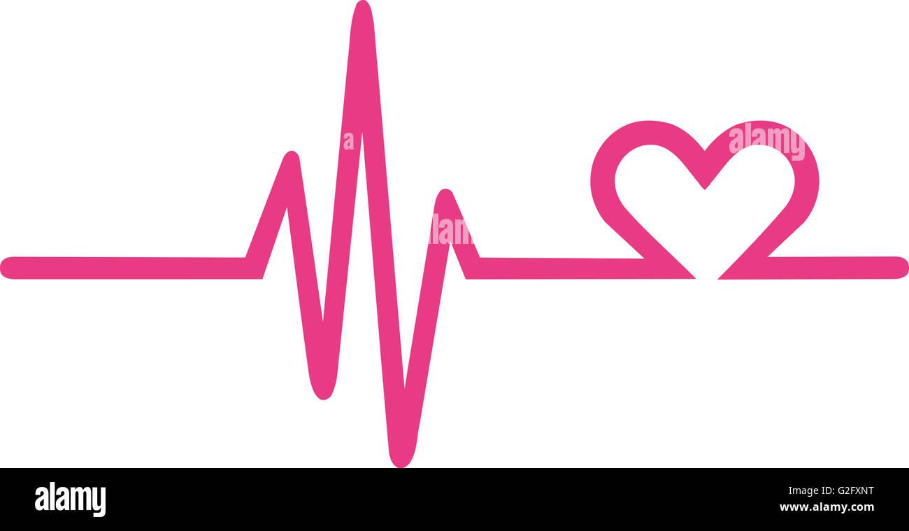 Herzschlag-Diagramm mit Herz Stockfoto, Bild: 104841796 - Alamy