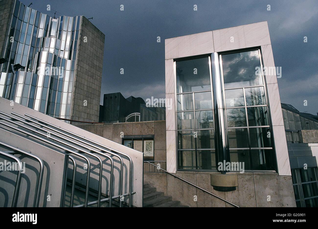 Deutschland - Mönchengladbach. Museum Abteiberg wissen für seine experimentellen und Avantgard-Ausstellung Stockbild