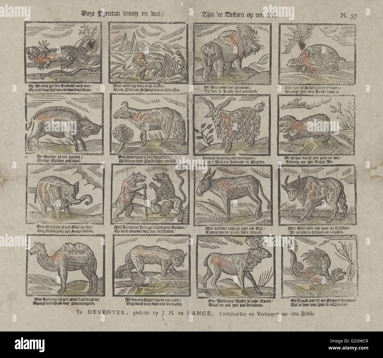 Drucke, Jan Hendrik de Lange, drucken Hersteller: Anonym, 1787-1822 Stockbild
