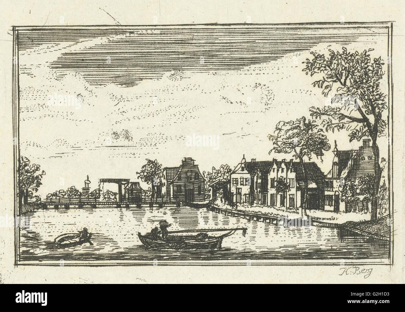 Nieuwersluis Zugbrücke, Hendrik Berg, Hendrik Spilman, 1765-1781 Stockbild