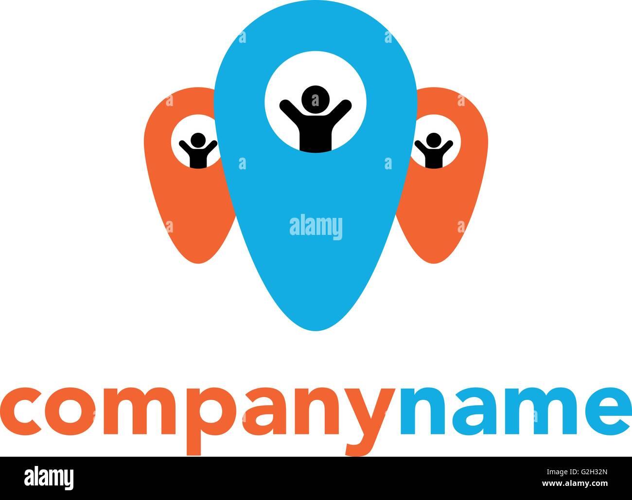 Abstrakten Menschen Vektor Logo Vorlage Design Konzept Für Die