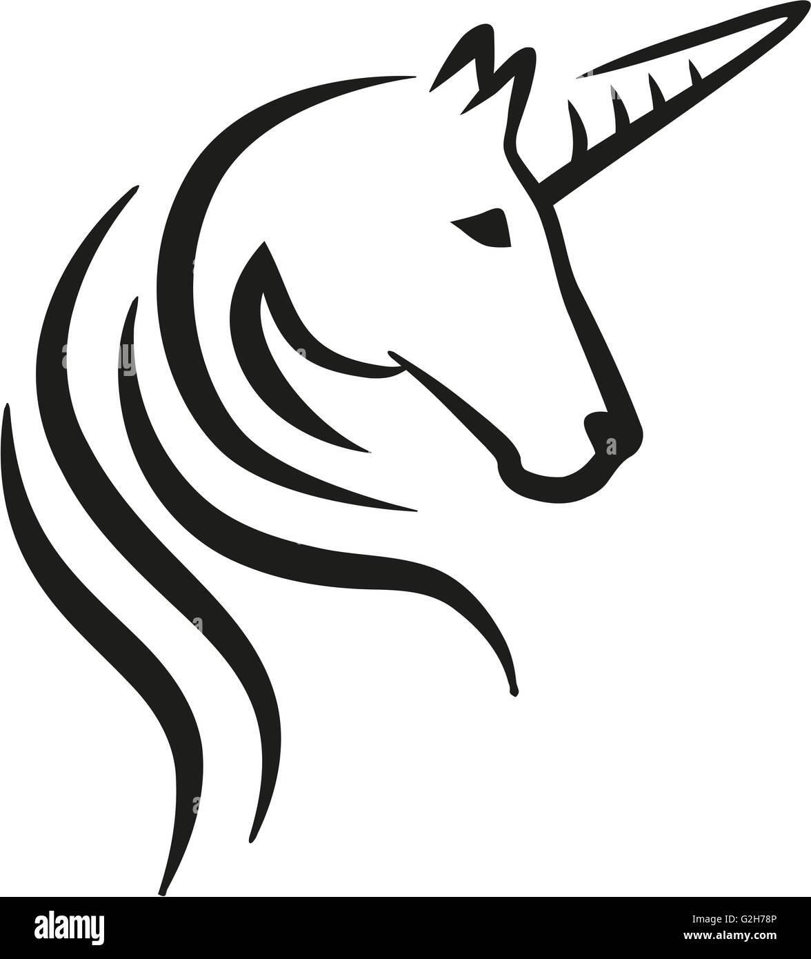 unicorn logo stockfotos unicorn logo bilder alamy. Black Bedroom Furniture Sets. Home Design Ideas