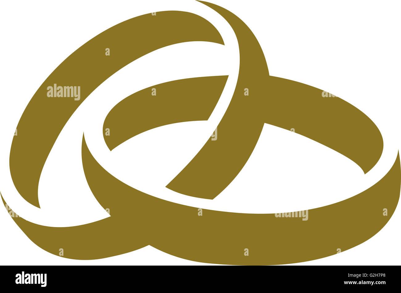 Symbol Der Goldenen Hochzeit Ringe Stockfoto Bild 104870816 Alamy