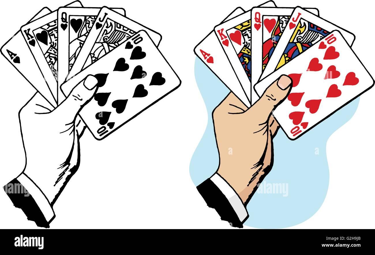 Karten Mischen Mit Einer Hand