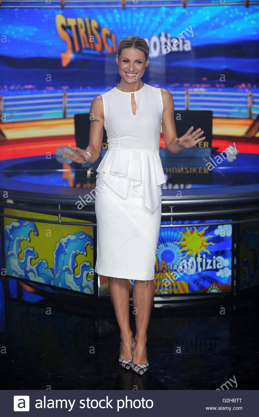 Michelle hunziker Stockbild