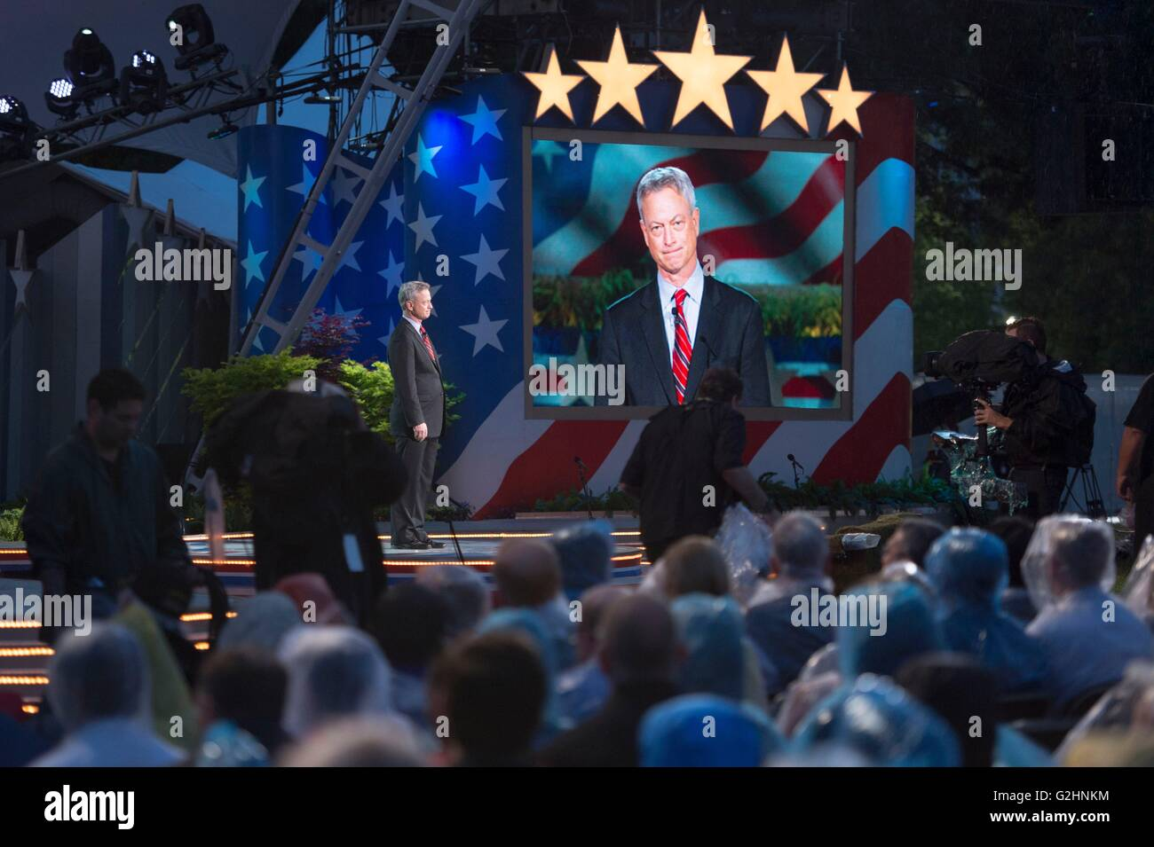 Schauspieler Gary Sinise Host National Memorial Day Concert 29. Mai 2016 in Washington, D.C. Stockbild