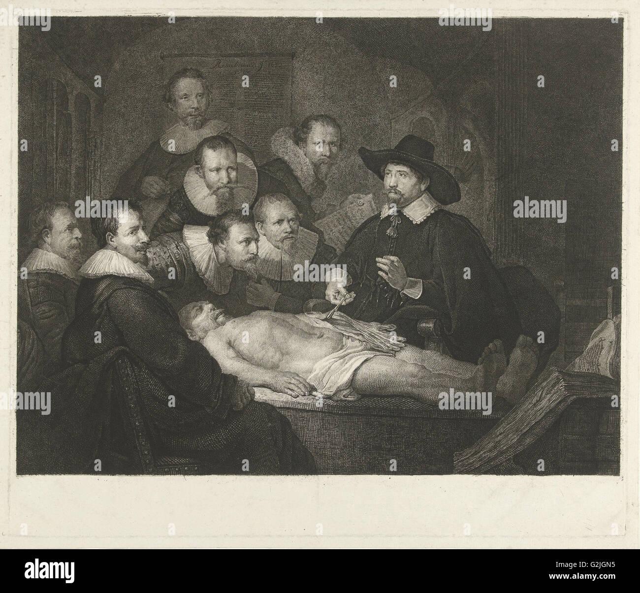 Die Anatomie Lektion von Dr. Nicolaes Tulp, Johannes Pieter de Frey ...