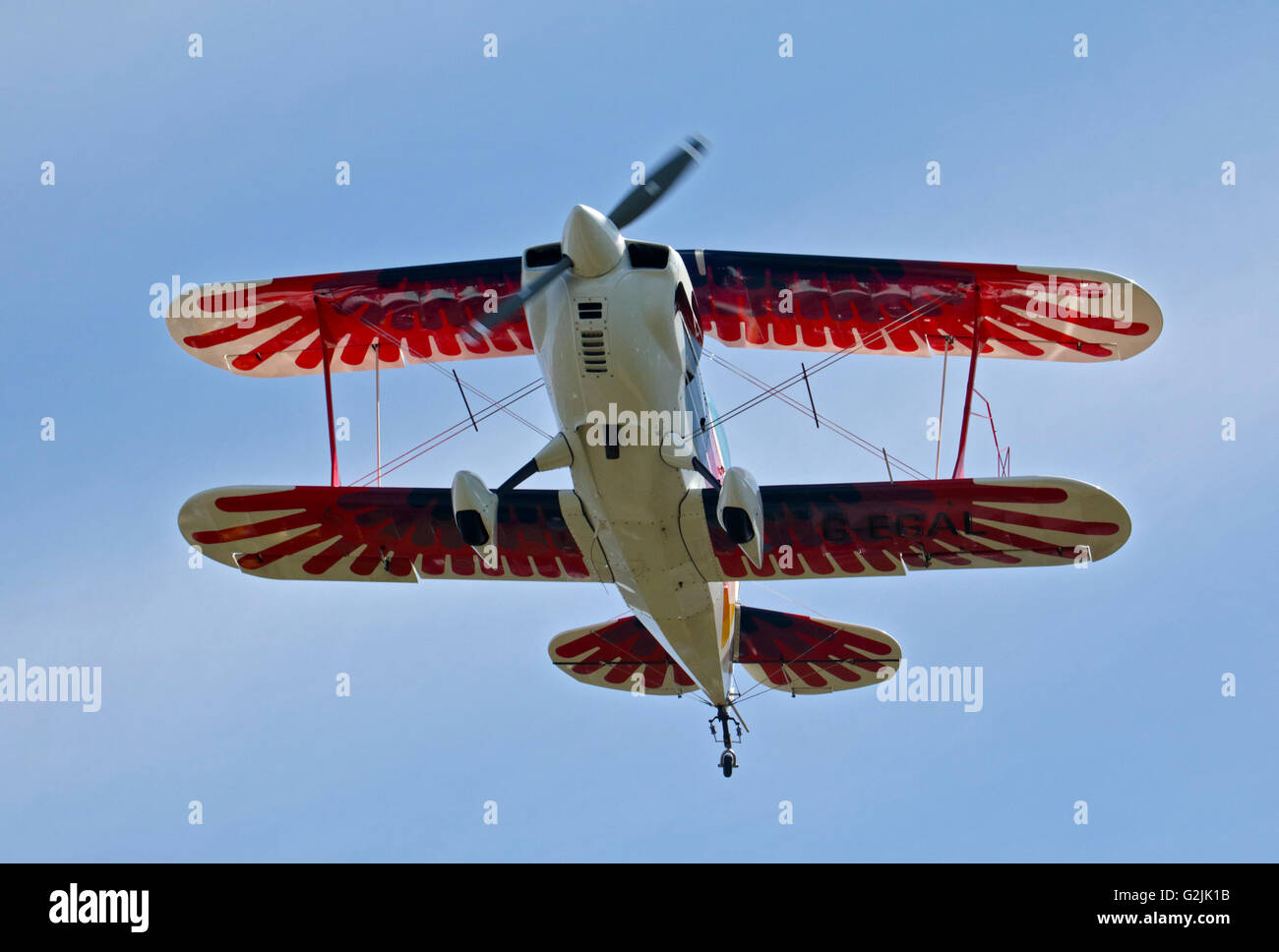 Chisten Eagle II Doppeldecker, Goodwood Aerodrome, West Sussex, England Stockbild
