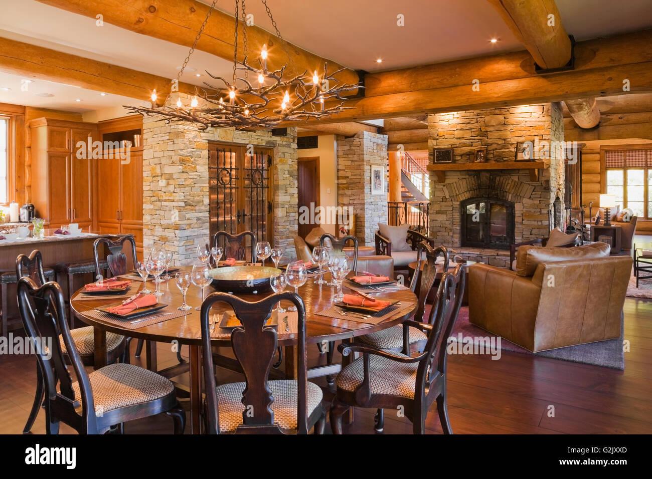 Runde hölzerne Esszimmer Tisch 8 Stühle Küche Insel Weinkeller ...