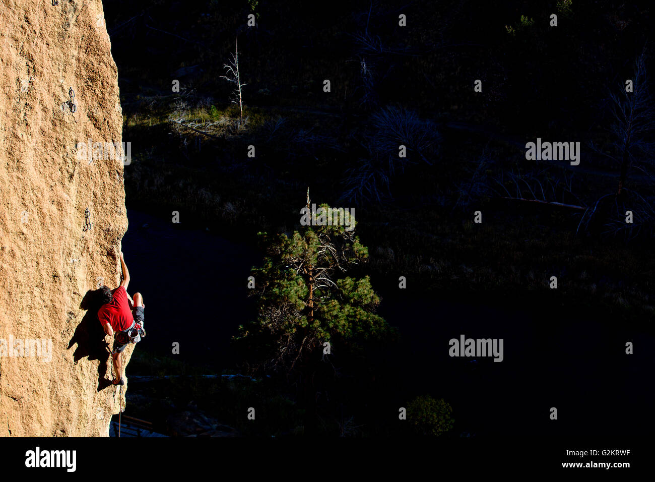 Klettern, British Columbia, Kanada Stockbild
