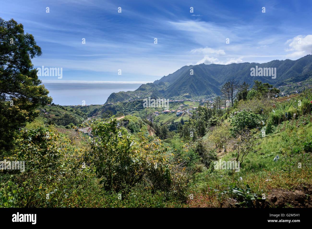 Northern Madeira Landschaften Stockbild