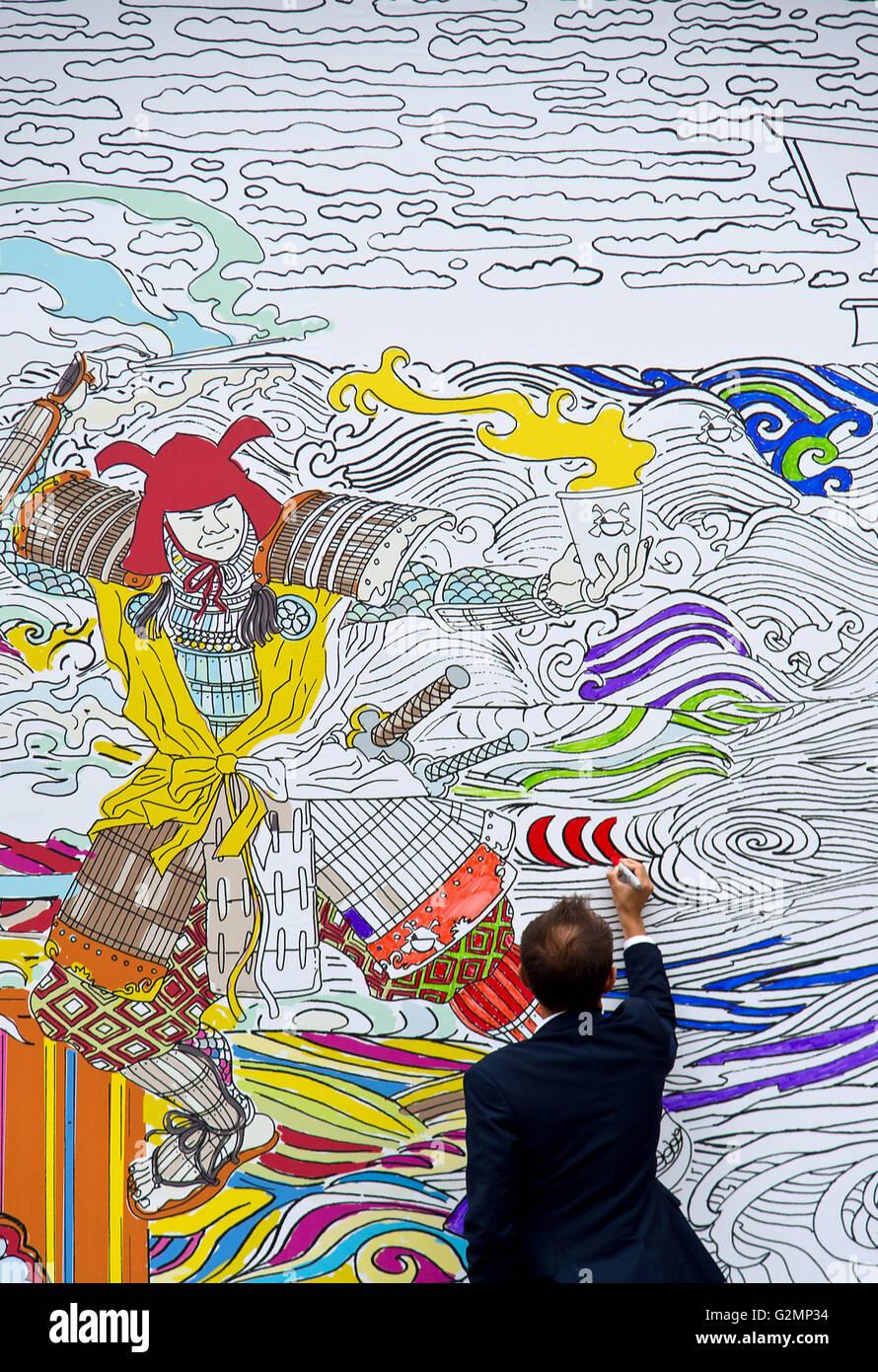 Eine 20ft Malvorlagen mobile Plakatwand, gezeichnet von Bestseller ...