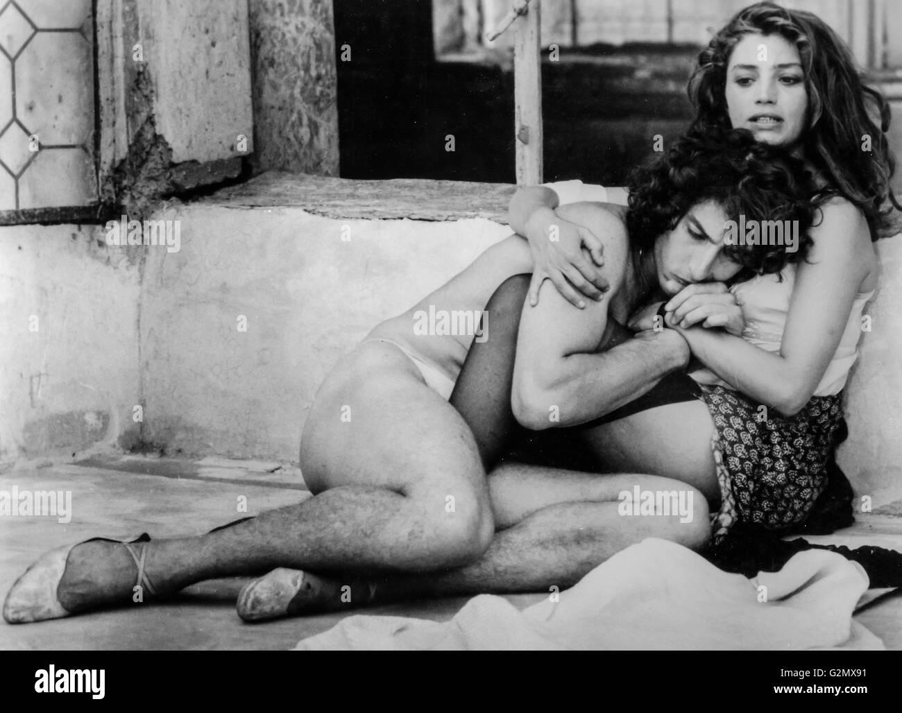 Daniel Ezralow, Angela Molina in Camorra, 1985 Stockbild