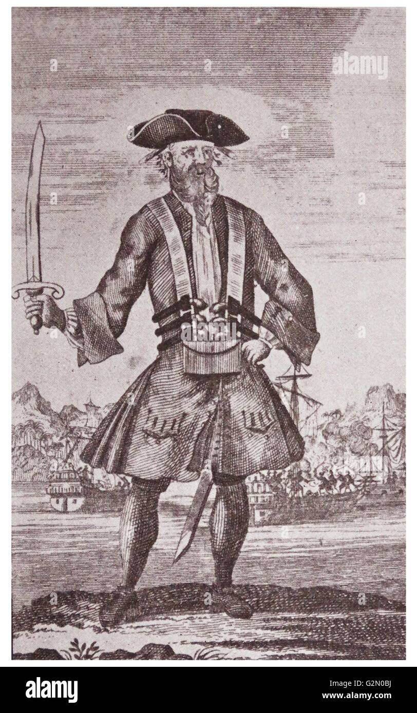 Edward Teach, besser bekannt als Blackbeard Stockbild