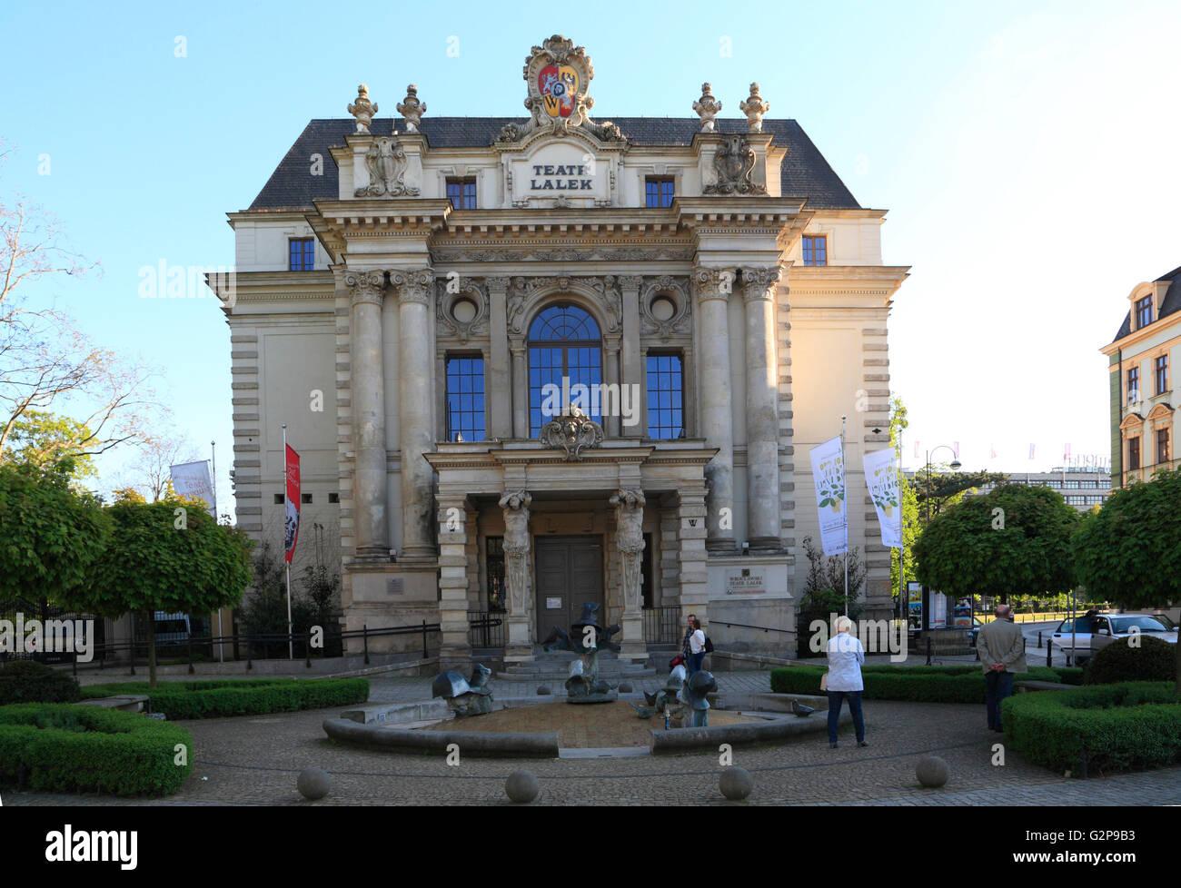Theater Lalek, Breslau, Schlesien, Polen, Europa Stockbild