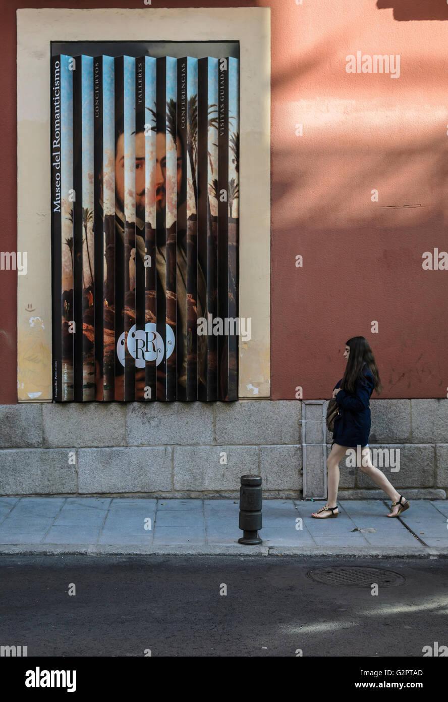 Madrid, Spanien, 2. Juni 2016.  Freien Blick auf das Romantik-Museum in Madrid, Spanien. Enrique Davó/Alamy Stockbild