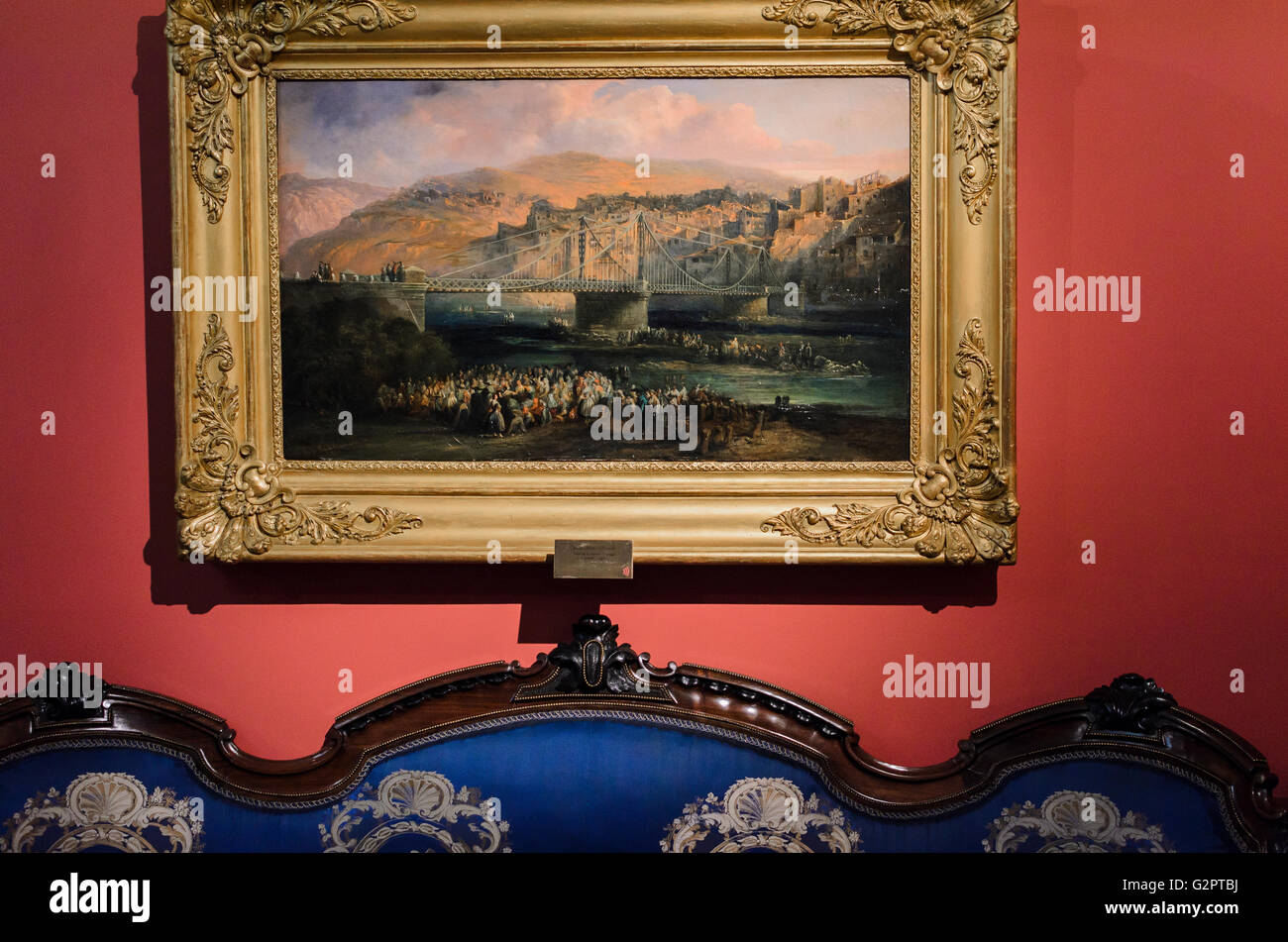 Madrid, Spanien, 2. Juni 2016.  Im Innenbereich zeigen Sie mit einem Bild von der Romantik-Museum in Madrid, Spanien Stockbild