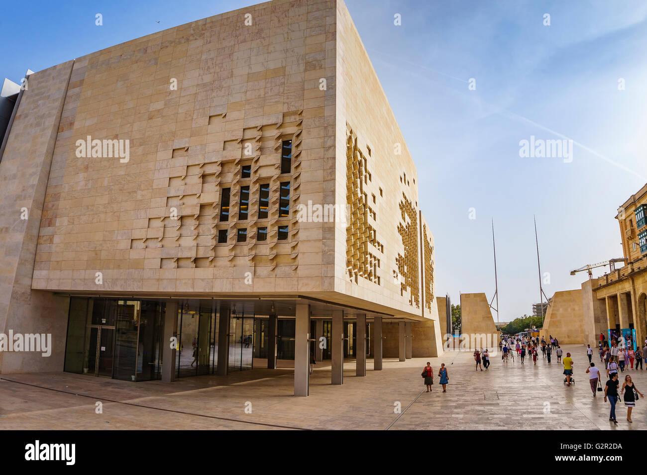 Das neue Parlament Haus von Malta. Das Gebäude wurde zwischen 2011 ...