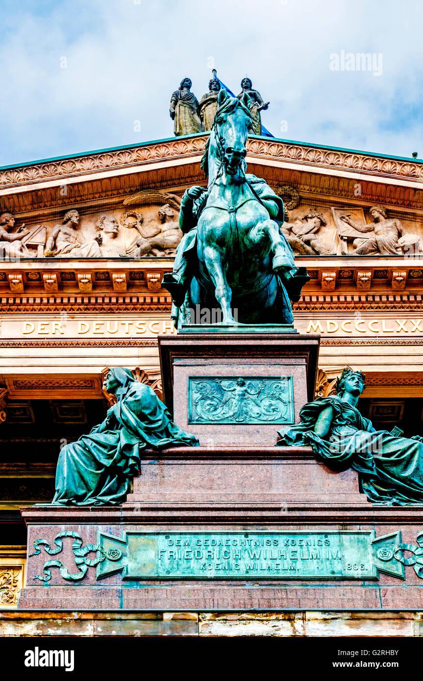 Museumsinsel Berlin, Alte Nationalgalerie, Nationalgalerie Stockbild