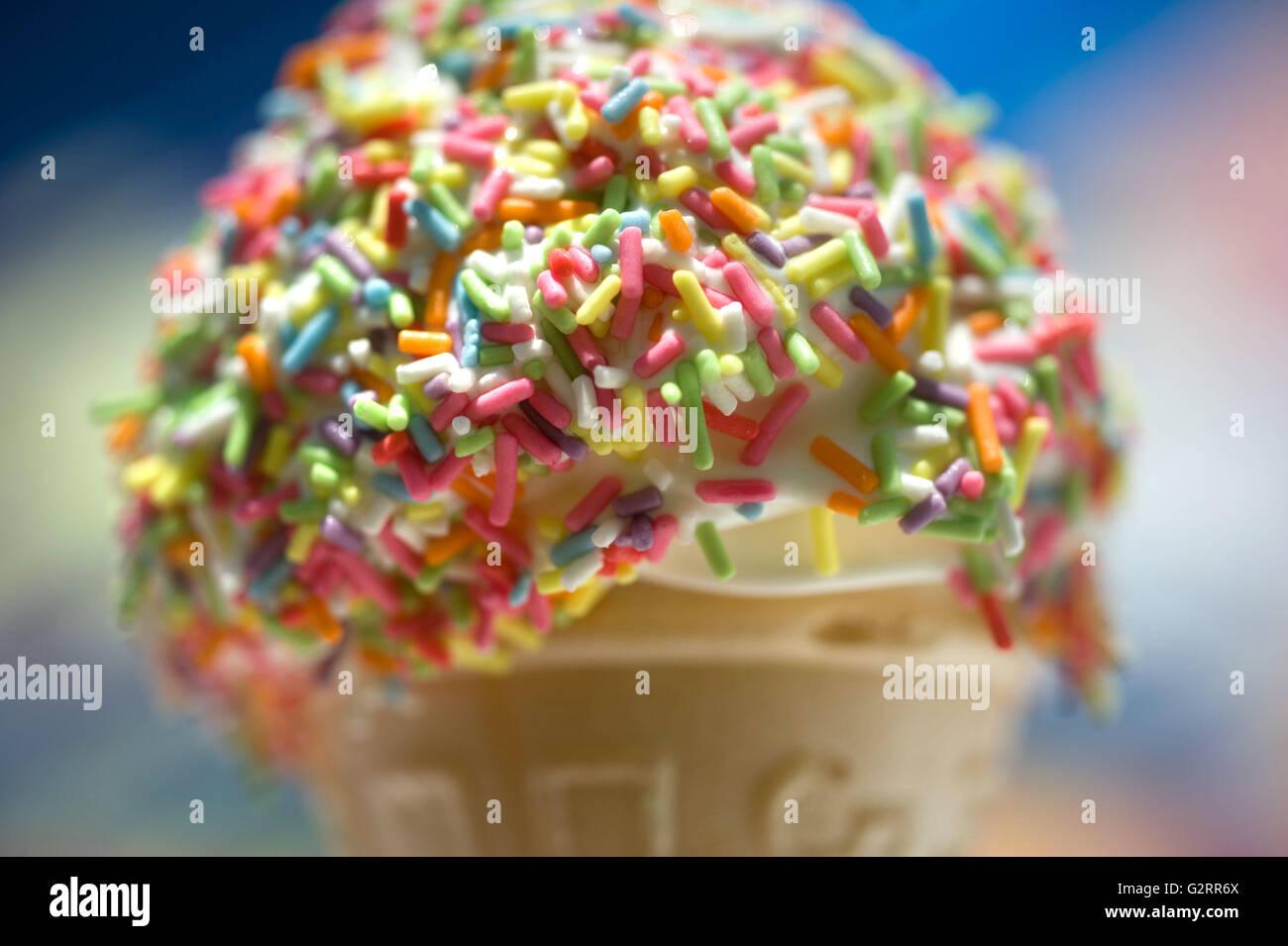 99 Eis mit Streusel Stockbild