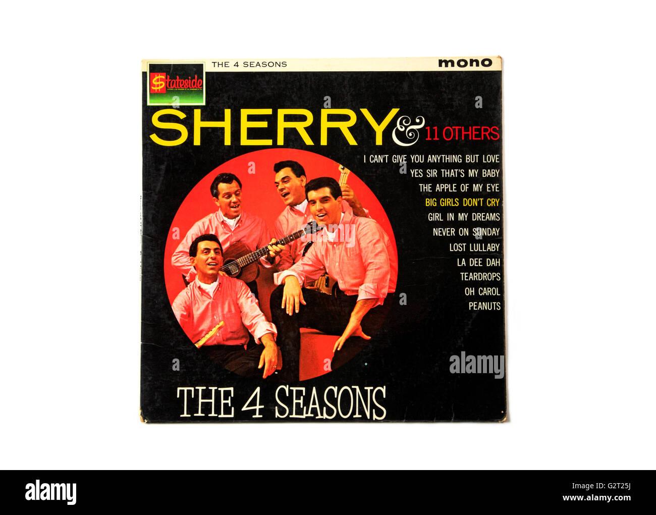 """Ein Four Seasons lange spielen Rekord Album-Cover mit dem Titel """"Sherry"""". Stockbild"""