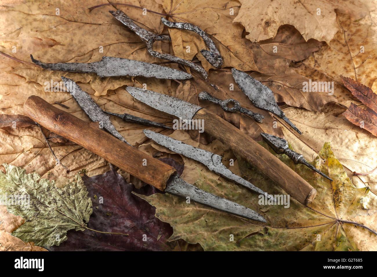 Alltag der Archäologe Stockbild