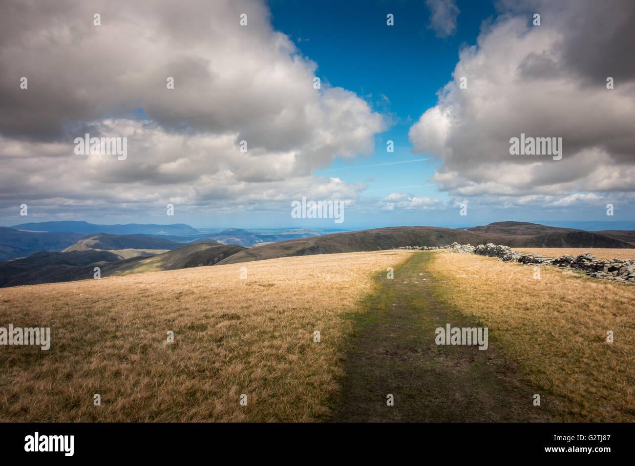 Schöne Aussicht von der High Street Blick nach Norden, Lake District, Großbritannien Stockbild