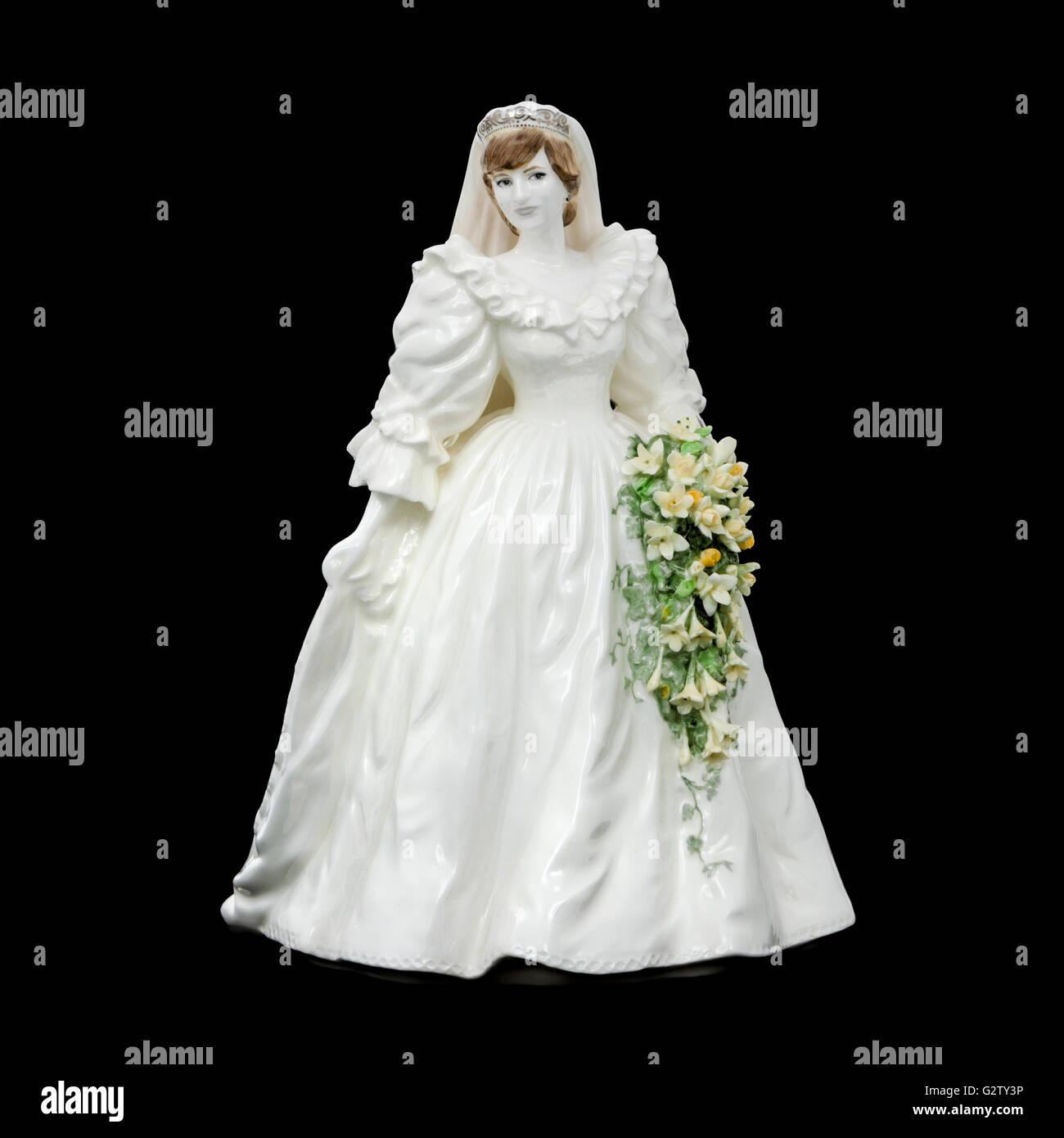 Princess Diana Wedding Dress Stockfotos & Princess Diana Wedding ...