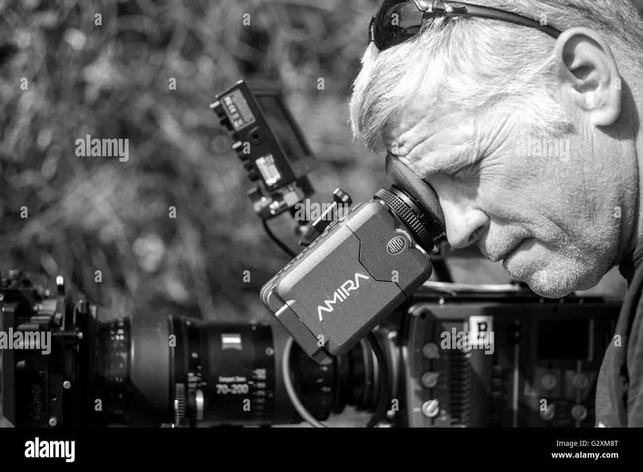 Tom, DP Rahmung auf das Shooting. Arbeiten mit der Amira-Video ...