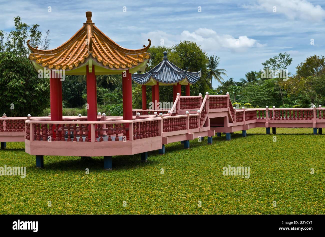 Taman Rekreasi Tasik Melati, Perlis, Malaysia - Tasik Melati ist berühmt für seine Seen und die Freizeiteinrichtungen Stockfoto