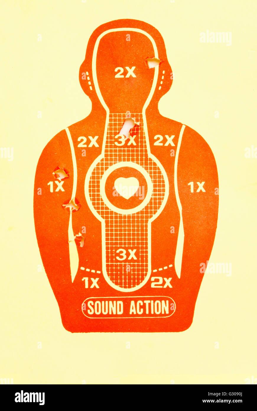 Vektor-Ziel (Print und Schuss) Stockbild