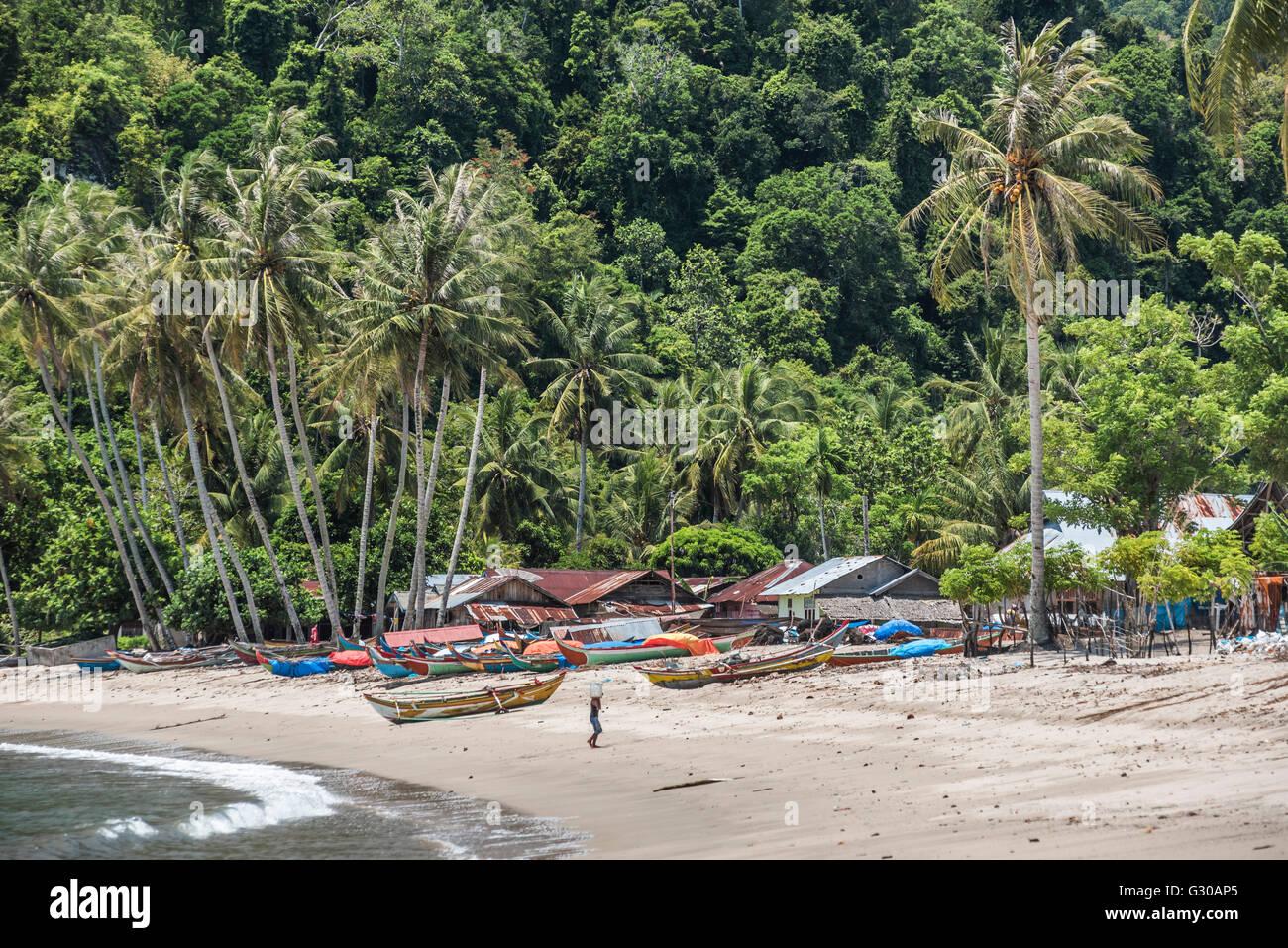 Sungai Pinang, ein Fischerdorf in der Nähe von Padang in West-Sumatra, Indonesien, Südostasien, Asien Stockbild