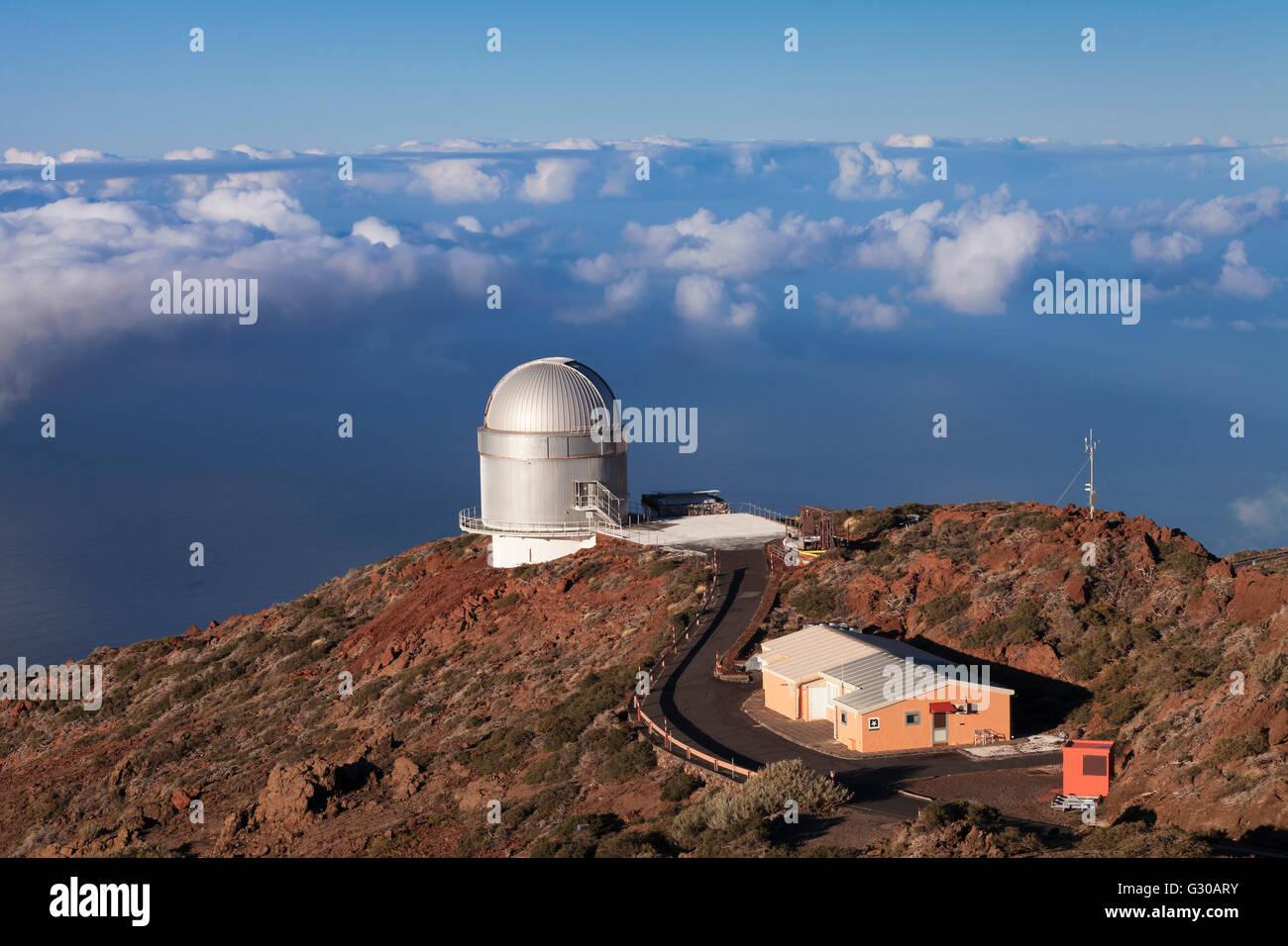 Gran Telescopio Canarias, Roque de Los Muchachos, Parque Nacional De La Caldera de Taburiente, La Palma, Kanarische Stockbild
