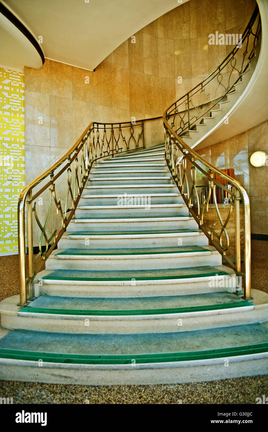 Art Deco Treppe Am Amec Foster Wheeler In Darlington Stockbild