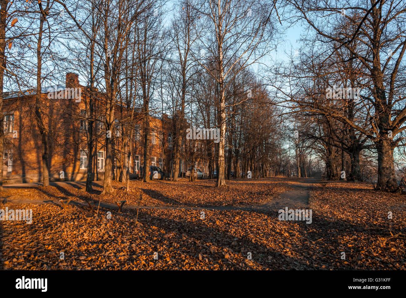 nostalgische rot Herbst Stockbild