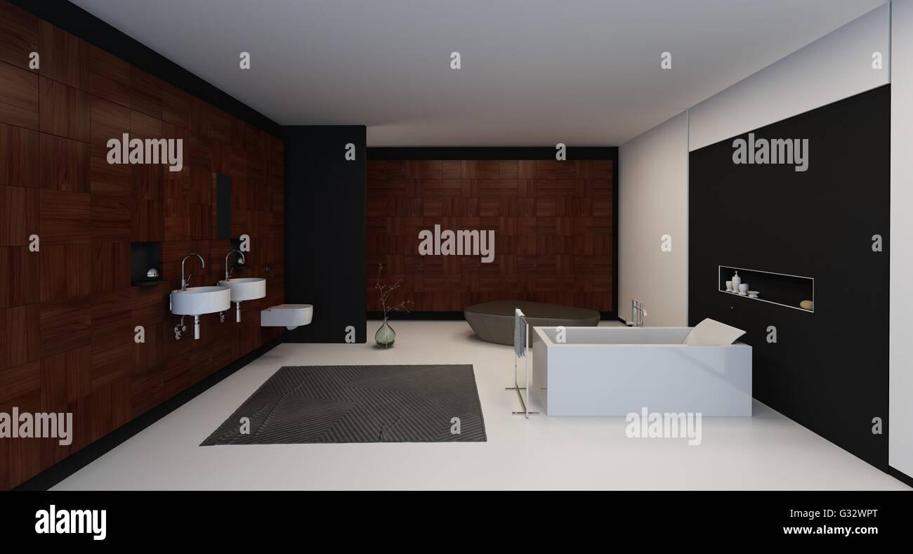 Endearing Badezimmer Schwarz Ideas Of Moderne Leuchten In Einem Minimalistisch Stilvollen /