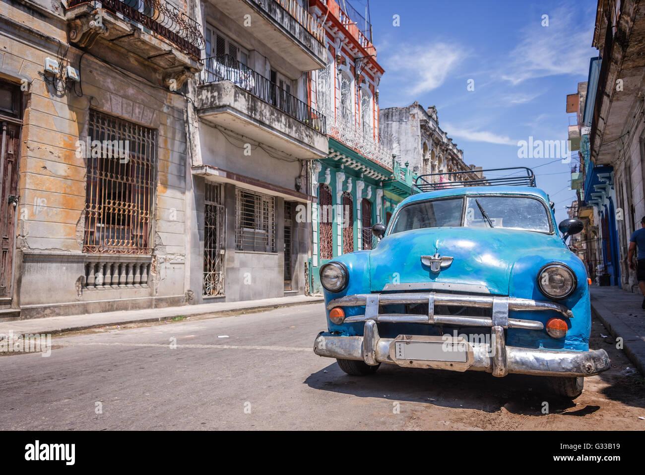 Klassische amerikanische Oldtimer in Havanna, Kuba Stockbild