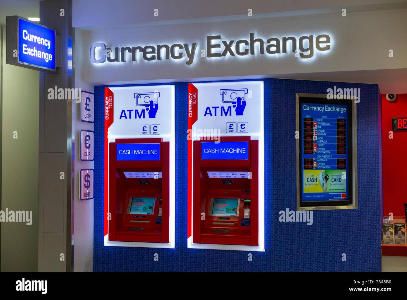 S atm geldautomaten maschinen im bureau de change office