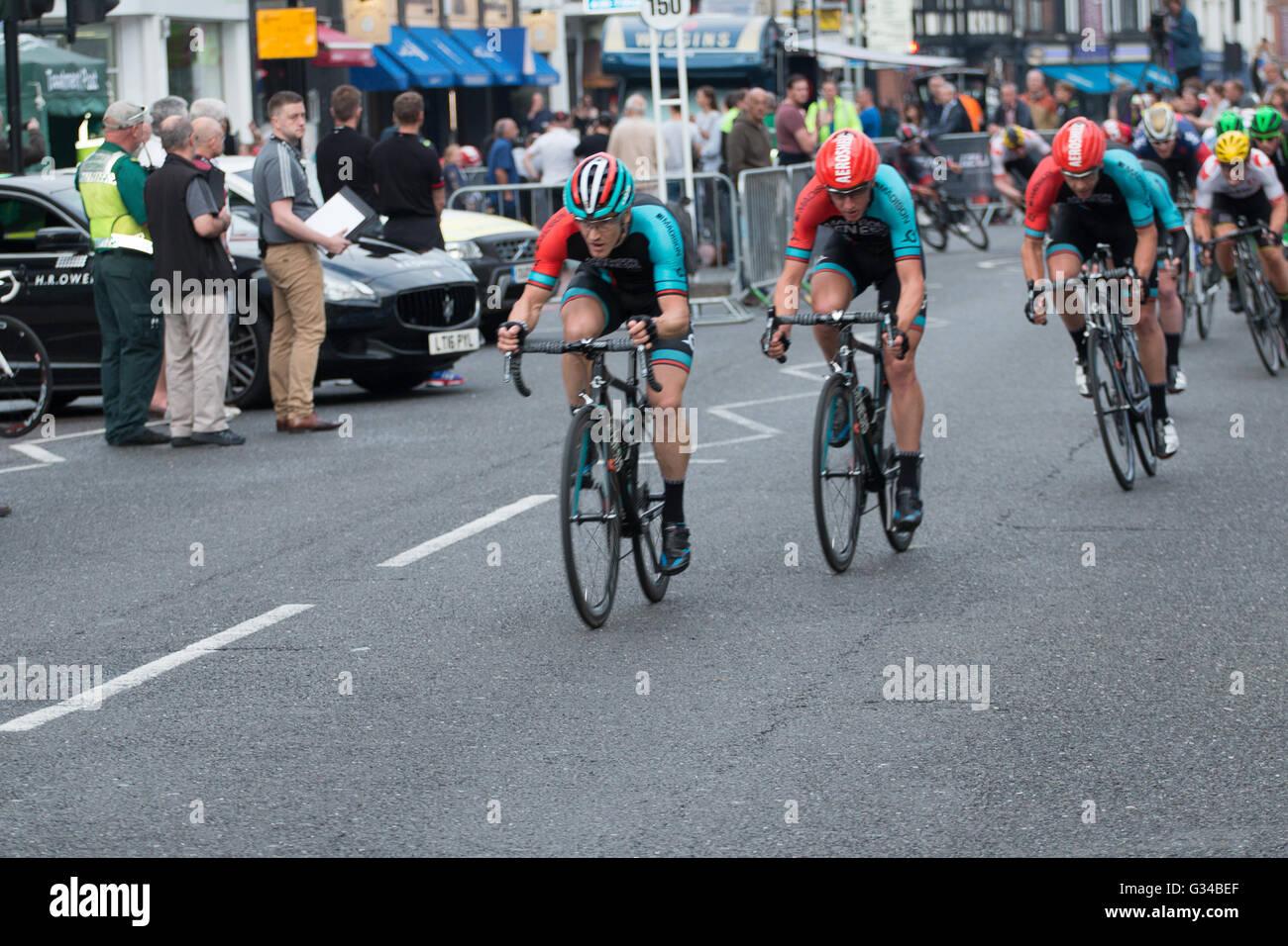 Madison Genesis Cycling Team Sieger Croydon Radrennen Radsport Pearl Izumi Tour Serie 2016 Herren Stockbild