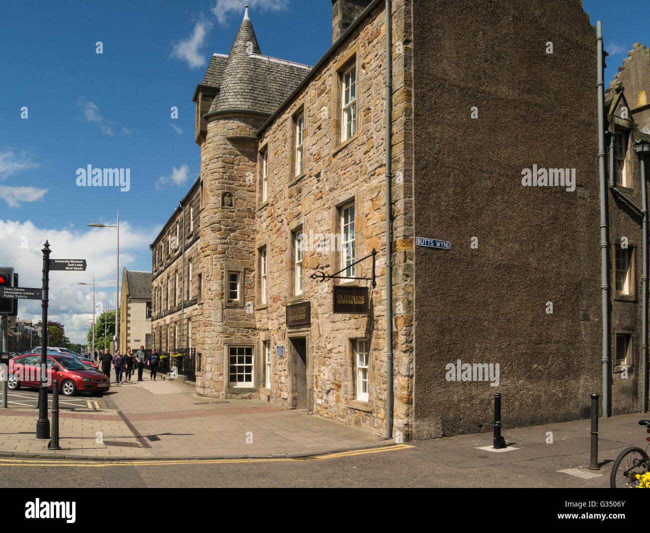 Alte Union Coffee Shop North Street Royal Burgh St Andrews Fife in Schottland durch Students Association Profite Stockbild