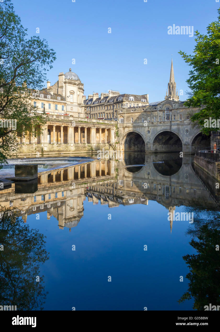 Die historische Stadt Bath, Somerset. Stockbild