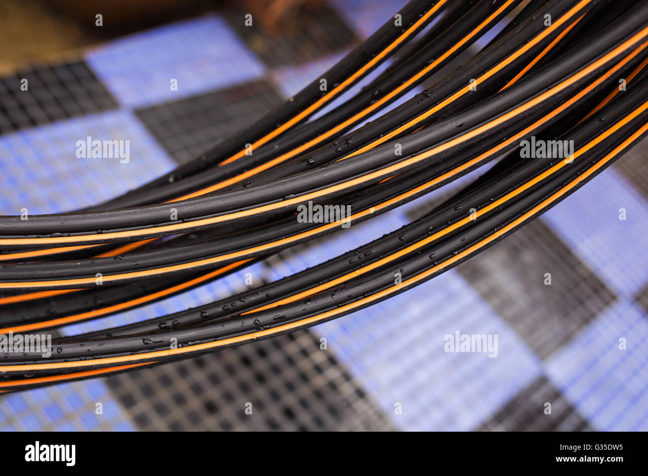 Electricity Cables In Bangkok Thailand Stockfotos & Electricity ...