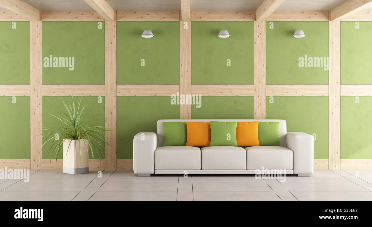Green Orange Living Room Rendering Stockfotos & Green Orange Living ...