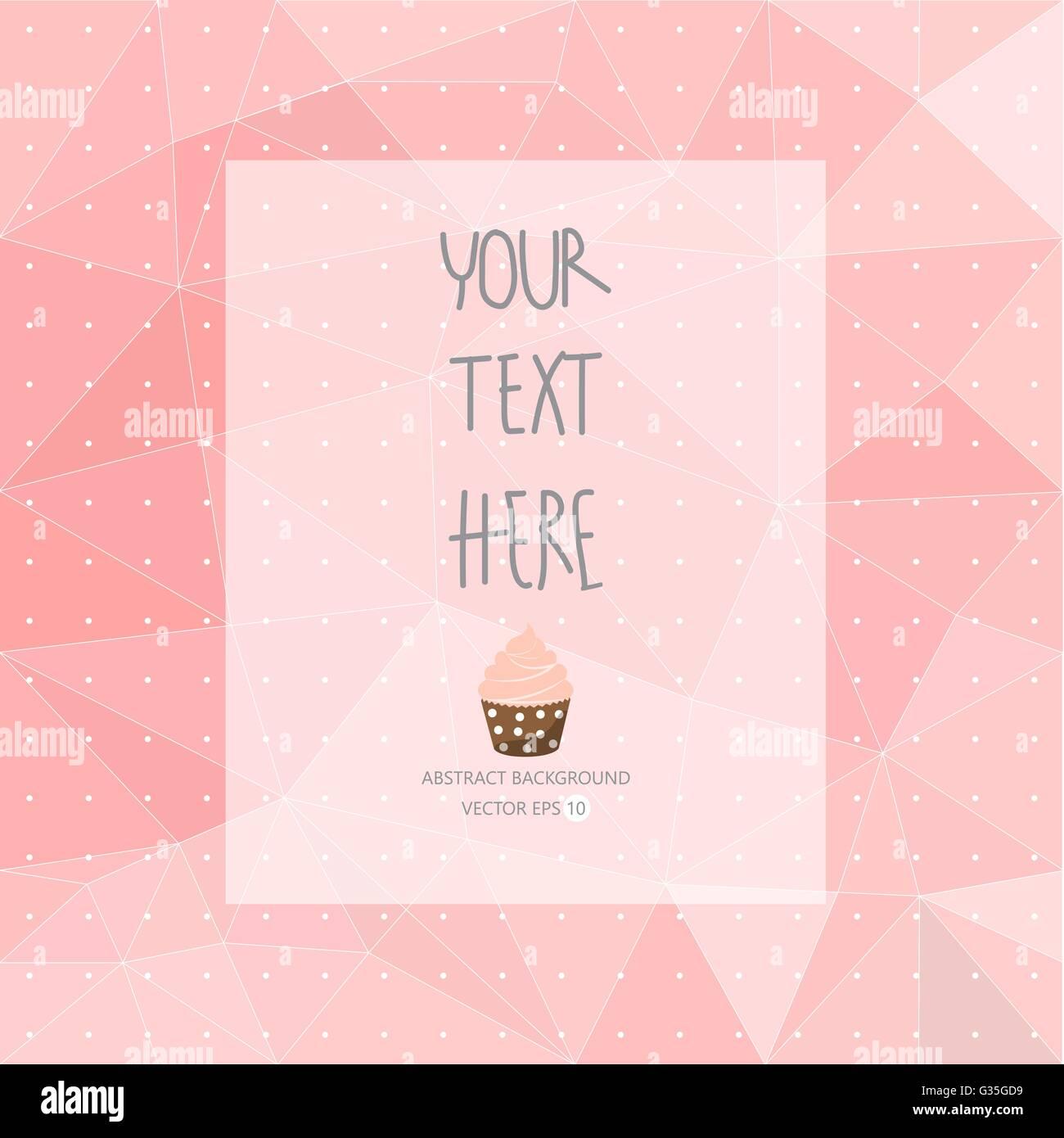 süße rosa Muster, low-Poly-Design, Hipster und girly-Konzept mit ...