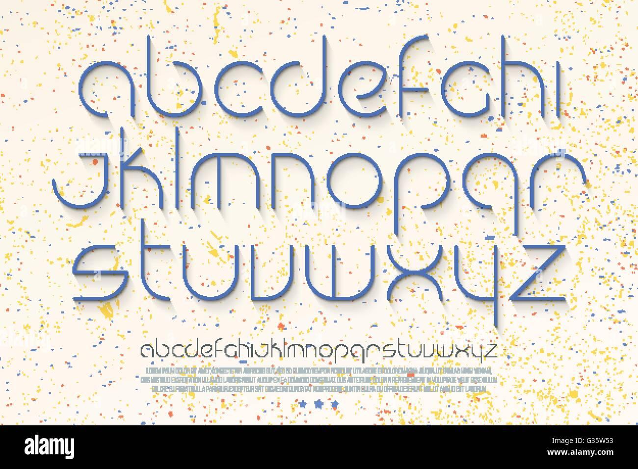 Reihe von stilvollen, dünne Linie Alphabet Buchstaben auf weißem ...