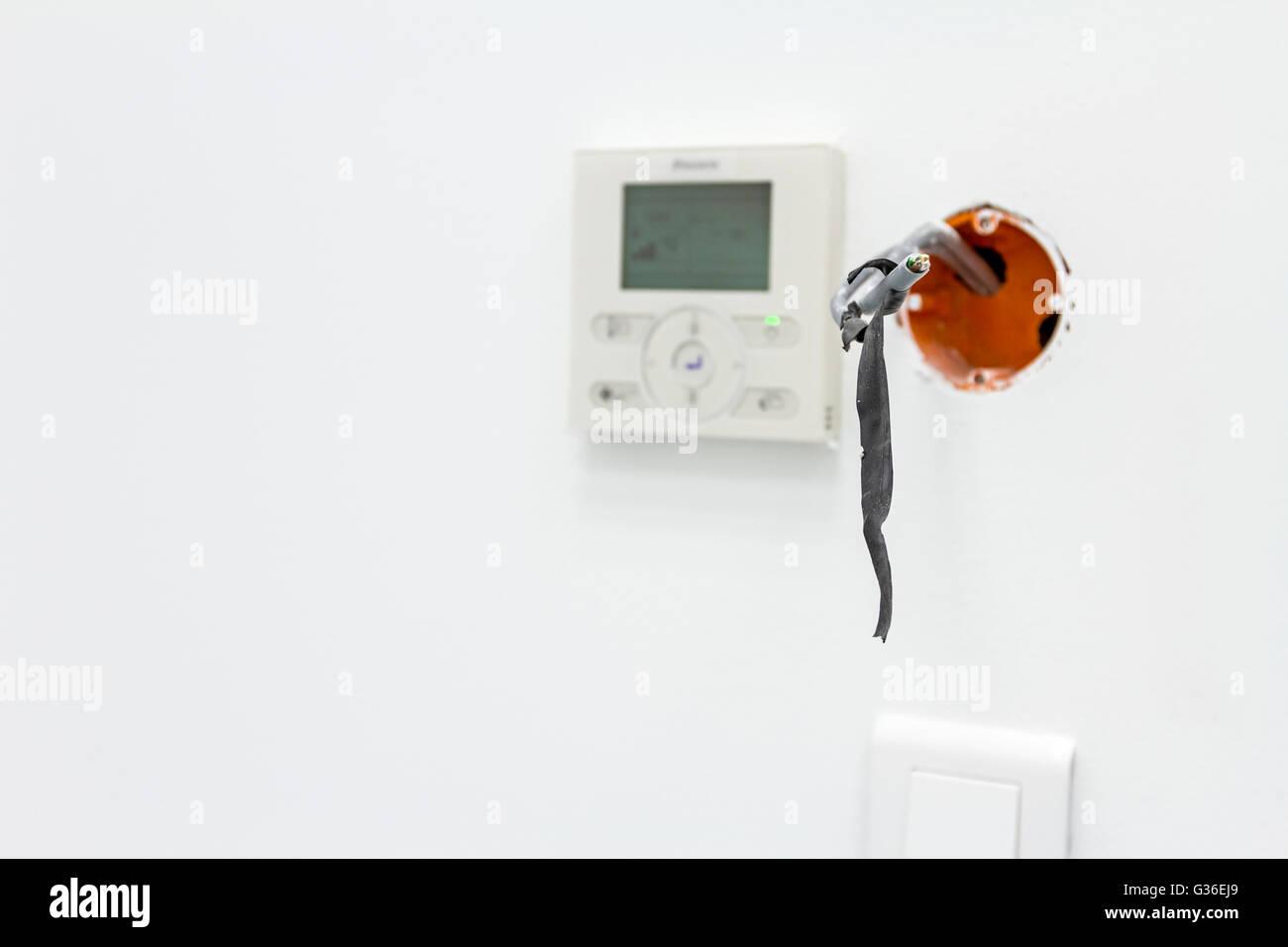 Moderne Digitale Elektronische Thermostat Klima Steuerung Im