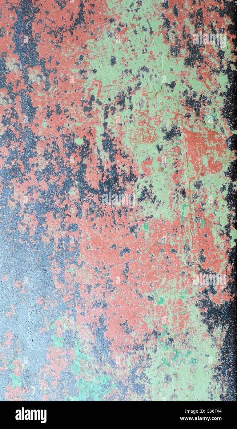Grunge gechipt Farbe rostig texturiert Metall Hintergrund Stockbild