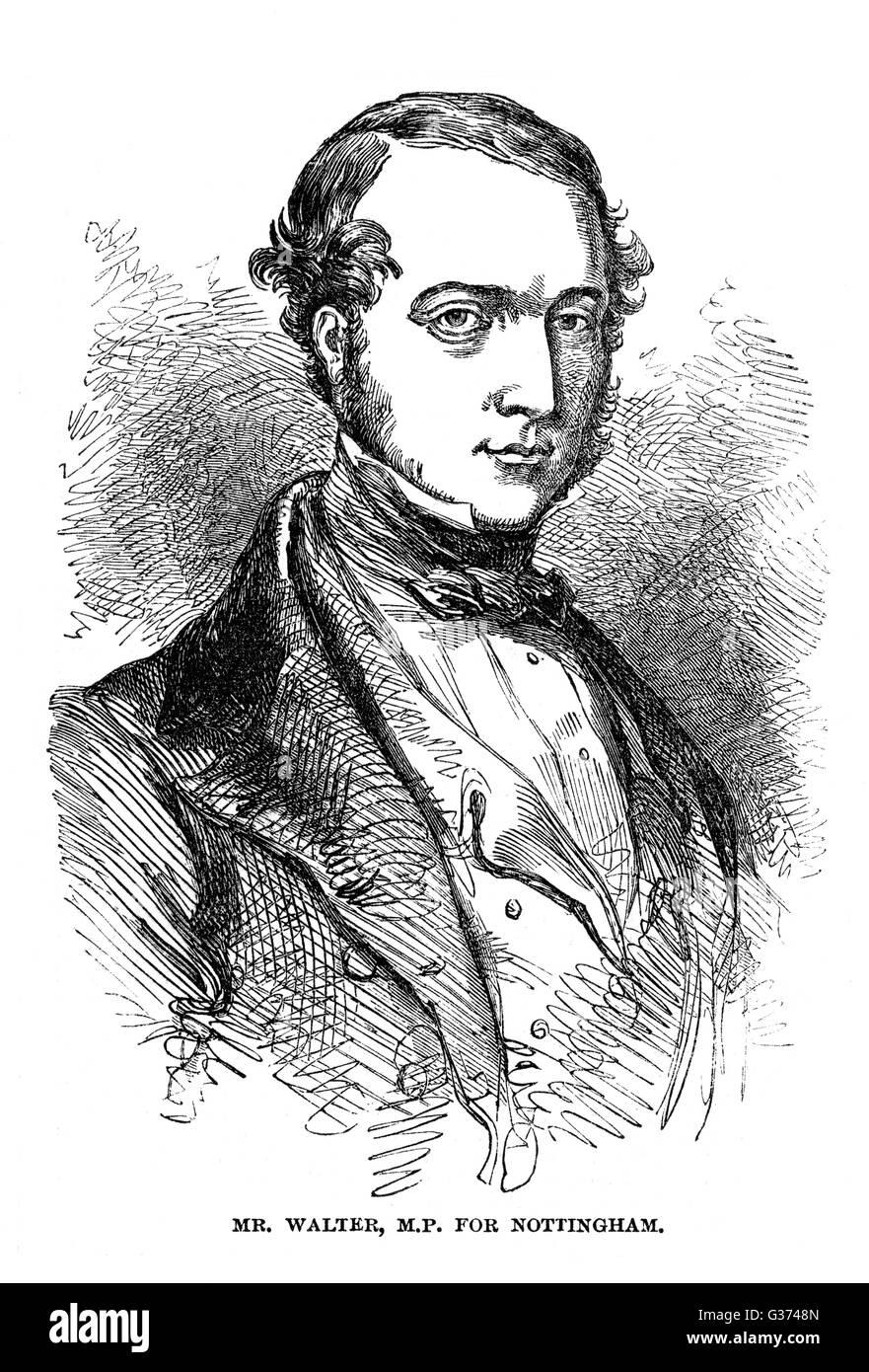 JOHN WALTER (Junior) Staatsmann, Inhaber von The Times Datum: 1818-1894 Stockfoto